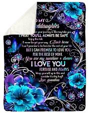Grandma to Granddaughter - You Are My Sunshine  Sherpa Fleece Blanket tile