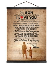 To Son - Always Remember How Much - Canvas  12x16 Black Hanging Canvas thumbnail