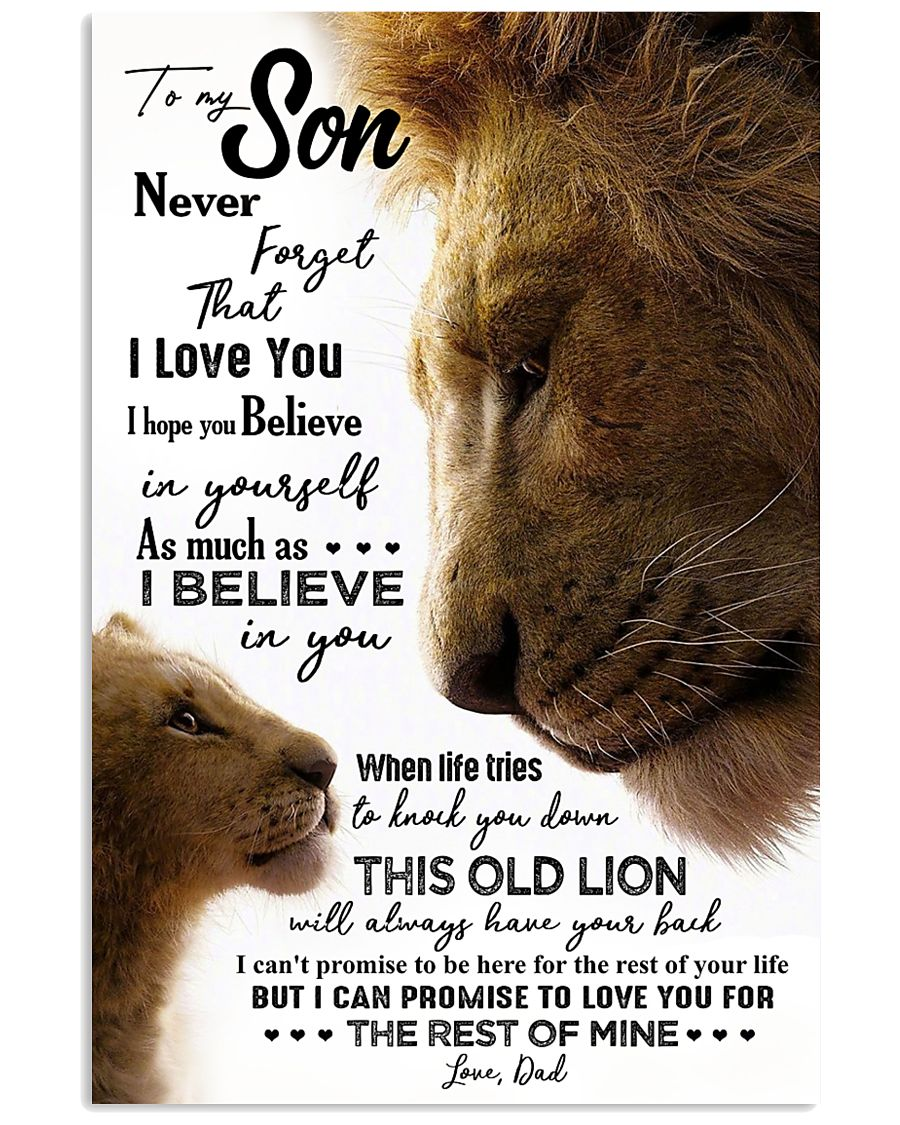 TO MY SON - LION - NEVER FORGET 16x24 Poster