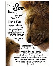 TO MY SON - LION - NEVER FORGET 16x24 Poster front