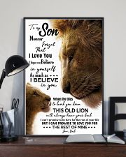 TO MY SON - LION - NEVER FORGET 16x24 Poster lifestyle-poster-2