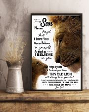 TO MY SON - LION - NEVER FORGET 16x24 Poster lifestyle-poster-3
