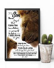 TO MY SON - LION - NEVER FORGET 16x24 Poster lifestyle-poster-8