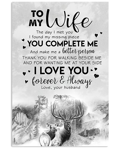TO MY WIFE - HUNTING - THE DAY I MET YOU