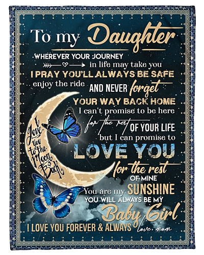 BLANKET - TO MY DAUGHTER - BUTTERFLY - WHEREVER