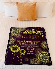 """To My Daughter - Keep Your Face To The Sunshine  Small Fleece Blanket - 30"""" x 40"""" aos-coral-fleece-blanket-30x40-lifestyle-front-04"""
