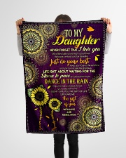 """To My Daughter - Keep Your Face To The Sunshine  Small Fleece Blanket - 30"""" x 40"""" aos-coral-fleece-blanket-30x40-lifestyle-front-14"""