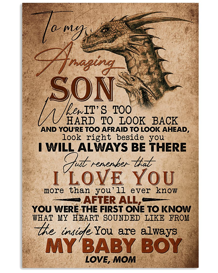 TO MY SON - AMAZING - WHEN IT'S TOO HARD 16x24 Poster