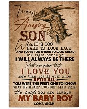 TO MY SON - AMAZING - WHEN IT'S TOO HARD 16x24 Poster front