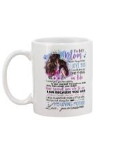 TO MY MOM - MY LOVING MOTHER Mug back