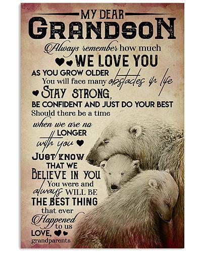 MY DEAR GRANDSON - WE LOVE YOU