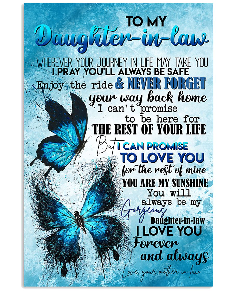 TO MY DAUGHTER-IN-LAW - BUTTERFLY - I LOVE YOU 16x24 Poster