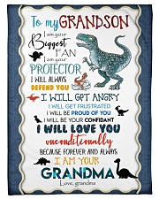 """TO MY GRANDSON - T REX - I AM YOUR BIGGEST FAN Small Fleece Blanket - 30"""" x 40"""" front"""