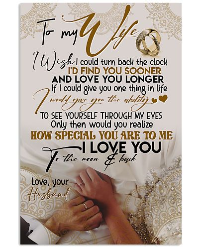 POSTER - TO MY WIFE - HAND IN HAND - I LOVE YOU
