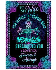 Husband To Wife - God Blessed The Broken Road  16x24 Poster front
