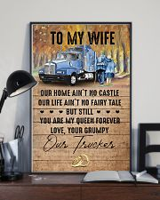 To My Wife - Trucker - You Are My Queen Forever 16x24 Poster lifestyle-poster-2