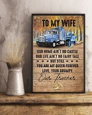 To My Wife - Trucker - You Are My Queen Forever 16x24 Poster lifestyle-poster-3