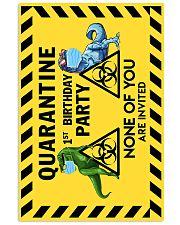 POSTER - T REX - QUARANTINE BIRTHDAY 16x24 Poster front