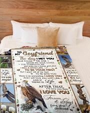 "TO MY BOYFRIEND Large Fleece Blanket - 60"" x 80"" aos-coral-fleece-blanket-60x80-lifestyle-front-02"