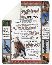 "TO MY BOYFRIEND Large Sherpa Fleece Blanket - 60"" x 80"" thumbnail"