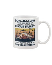 SON-IN-LAW - TURTLE - VINTAGE - YOU VOLUNTEERED Mug front
