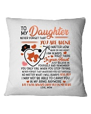 MOM TO DAUGHTER Square Pillowcase thumbnail