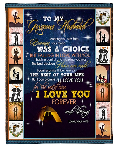 TO MY HUSBAND - CAMPING - I LOVE YOU