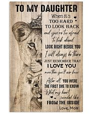 TO DAUGHTER - LIONESS - THE INSIDE 16x24 Poster front