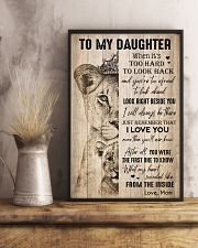 TO DAUGHTER - LIONESS - THE INSIDE 16x24 Poster lifestyle-poster-3