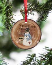 Grandma - Christmas - Personalized Circle Ornament Circle ornament - single (porcelain) aos-circle-ornament-single-porcelain-lifestyles-07