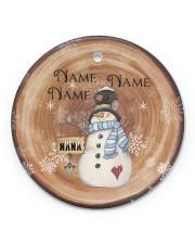Grandma - Christmas - Personalized Circle Ornament Circle ornament - single (porcelain) front