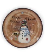 Grandma - Christmas - Personalized Circle Ornament Circle ornament - single (wood) thumbnail