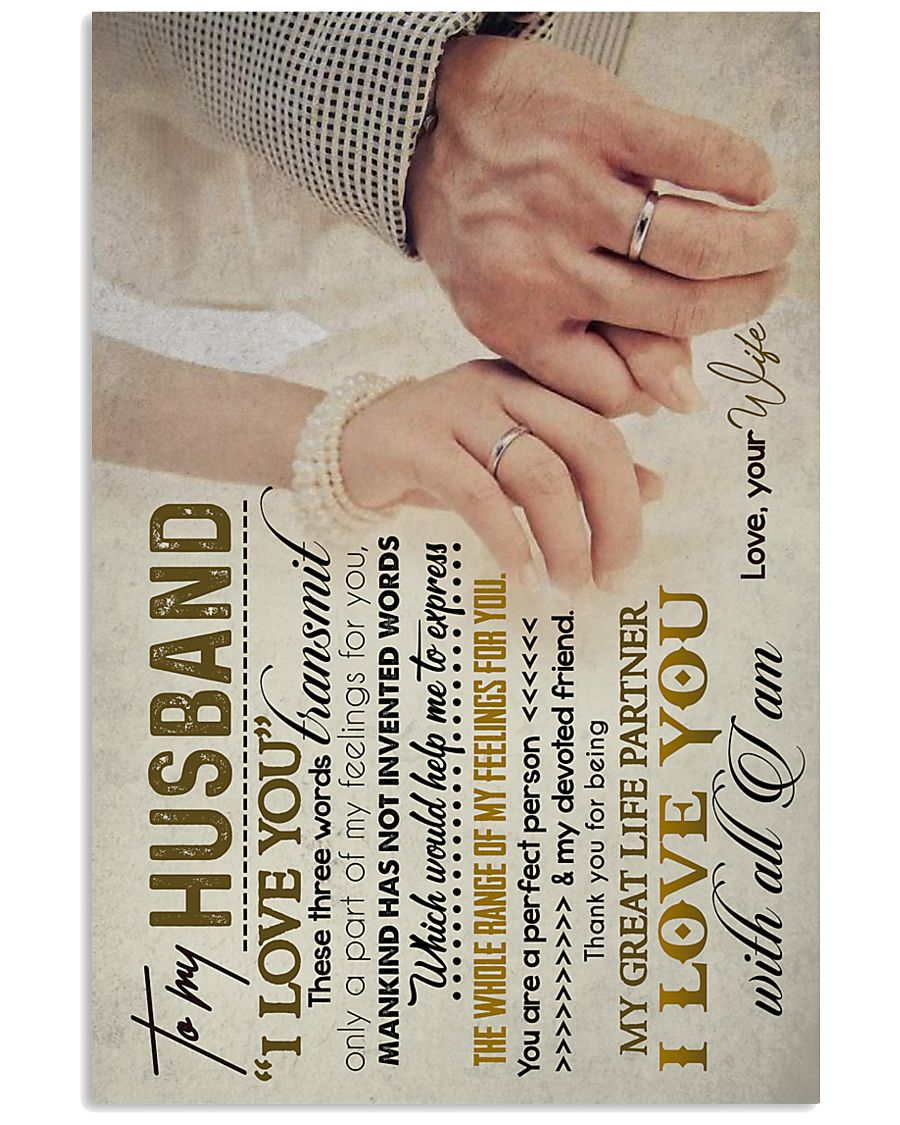TO MY HUSBAND - HAND IN HAND - I LOVE YOU 16x24 Poster