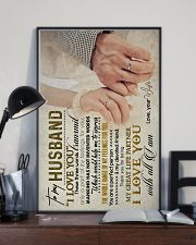 TO MY HUSBAND - HAND IN HAND - I LOVE YOU 16x24 Poster lifestyle-poster-2
