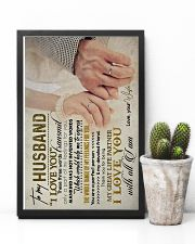 TO MY HUSBAND - HAND IN HAND - I LOVE YOU 16x24 Poster lifestyle-poster-8