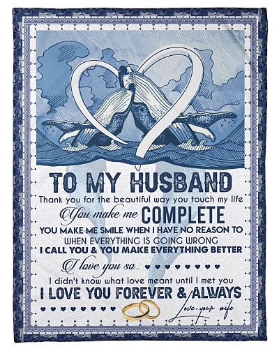 TO MY HUSBAND - BLUE WHALE - I LOVE YOU