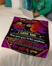 """Daughter - Life Is Filled With Hard Times  Small Fleece Blanket - 30"""" x 40"""" aos-coral-fleece-blanket-30x40-lifestyle-front-07"""