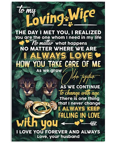 TO MY WIFE - CAT - I LOVE YOU
