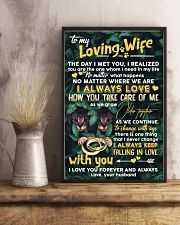 TO MY WIFE - CAT - I LOVE YOU 16x24 Poster lifestyle-poster-3