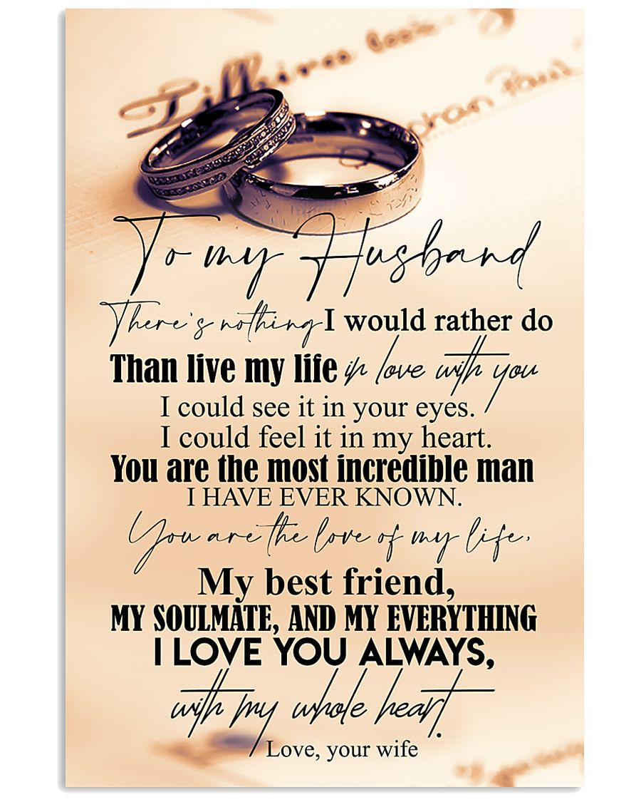 TO MY HUSBAND - COUPLE RING - I LOVE YOU 16x24 Poster