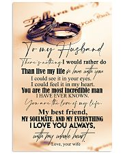 TO MY HUSBAND - COUPLE RING - I LOVE YOU 16x24 Poster front
