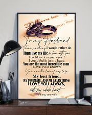 TO MY HUSBAND - COUPLE RING - I LOVE YOU 16x24 Poster lifestyle-poster-2