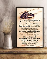 TO MY HUSBAND - COUPLE RING - I LOVE YOU 16x24 Poster lifestyle-poster-3