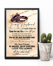 TO MY HUSBAND - COUPLE RING - I LOVE YOU 16x24 Poster lifestyle-poster-8
