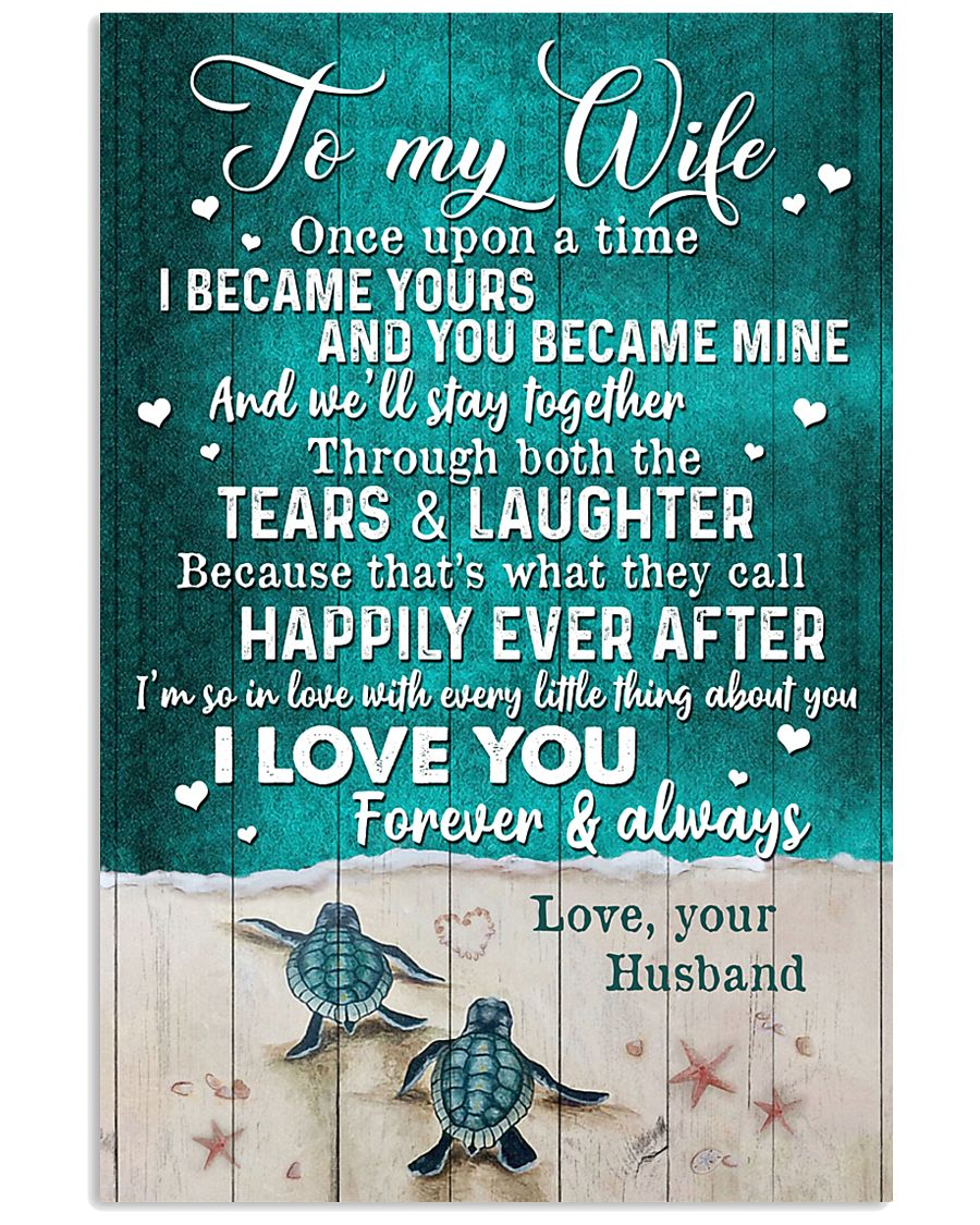 TO MY WIFE - TURTLE - I LOVE YOU 16x24 Poster