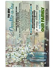 To My daughter-in-law - Flowers - I Know You  16x24 Poster front