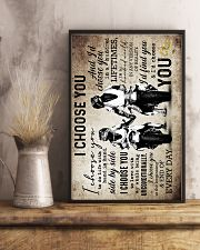 Husband And Wife - Motorcyling - I Choose You 16x24 Poster lifestyle-poster-3
