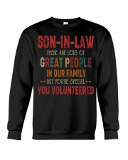 T-SHIRT - SON-IN-LAW - VINTAGE - YOU VOLUNTEERED Crewneck Sweatshirt thumbnail