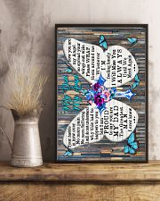 God - To My Angel Dad - Poster  16x24 Poster lifestyle-poster-3