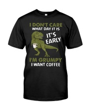 T-SHIRT - COFFEE - I DON'T CARE  Classic T-Shirt front